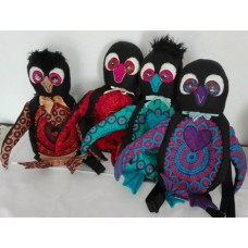 Penguin Backpack made with African Shweshwe
