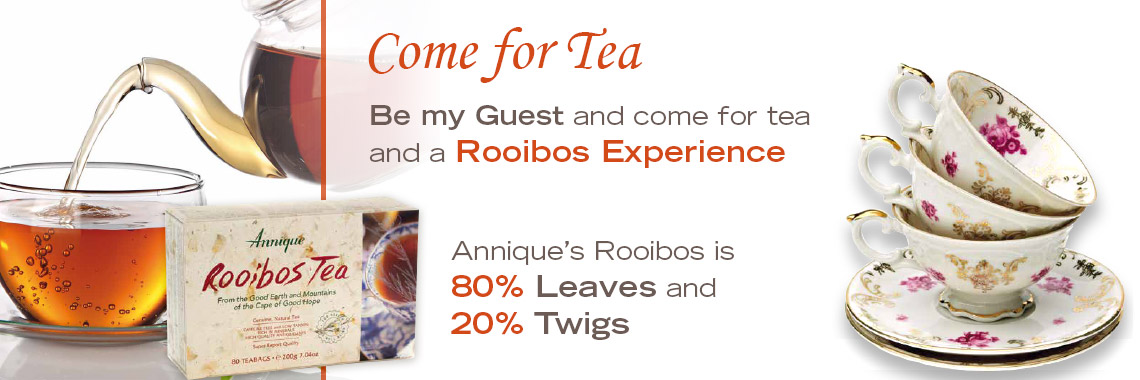Come for Rooibos Tea