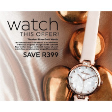Buy Forever Young and Resque products for R649.00+ and receive a Watch valued at R399
